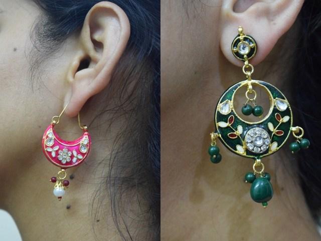 Meenakari & Kundan Earrings