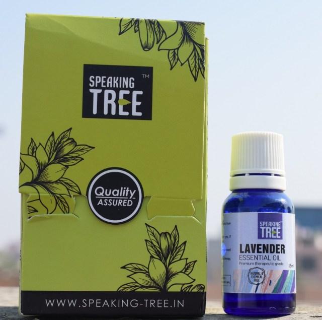 Speaking Tree Lavender Essential Oil - Packaging
