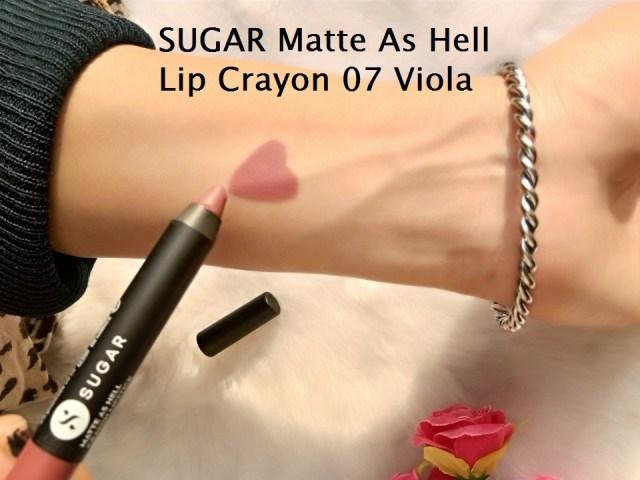 SUGAR Matte As Hell Lip Crayon 07 Viola Swatch