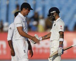 Virat Kohli, Alastair Cook India vs England Test