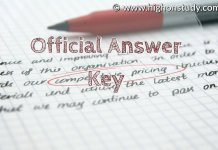 Official answer key