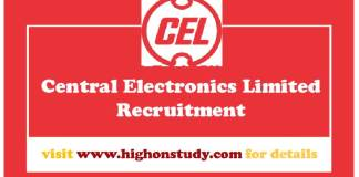 Central Electronics Limited govt jobs
