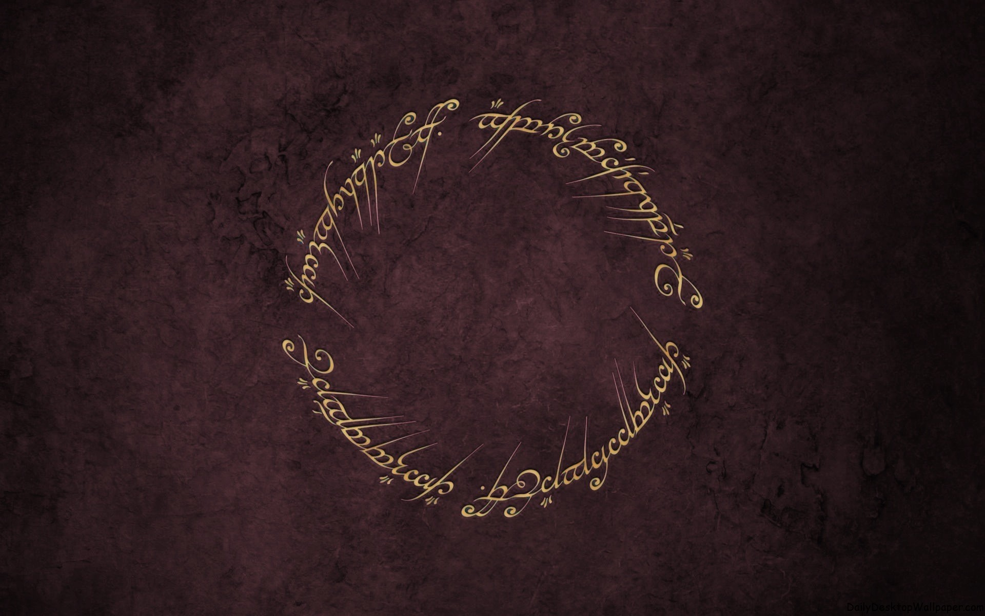 The Elvish inscription from JRR Tolkein's Lord of the Rings