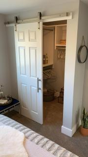 Custom Barn Door for the walk in closet