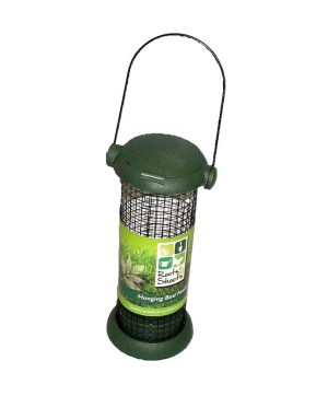 Bird Feeder 19cm Mesh Nut Feeder Green With Hanger