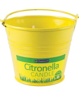 Citronella Metal Bucket Candle