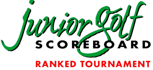 Junior Golf Scoreboard ranked tournament