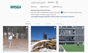 High school golf Instagram accounts