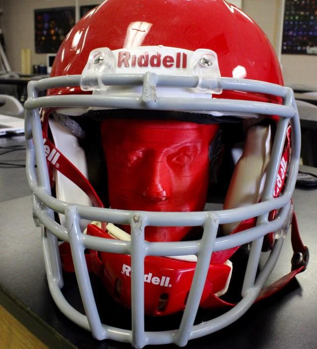 3D Printed Stephen Colbert in Helmet