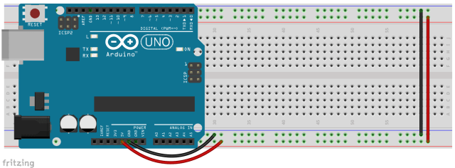 Breadboard with Arduino