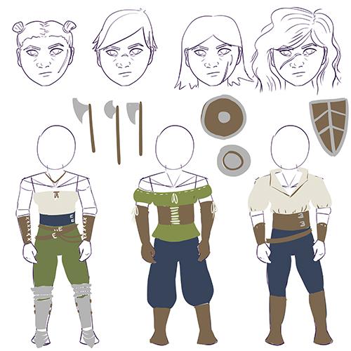 1107-kithri-halflingbarb-sketches
