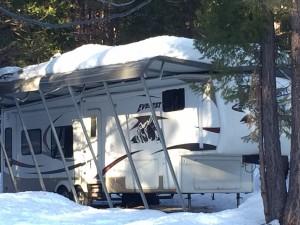 RV Snow Damage