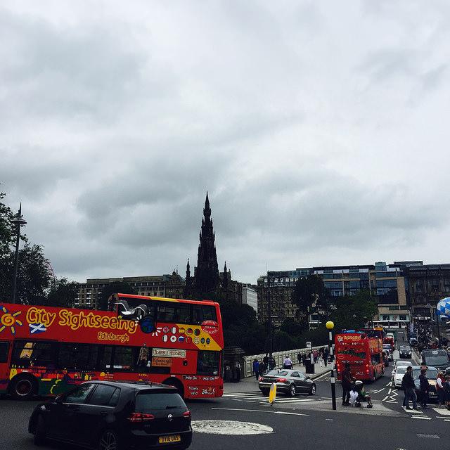 Kreisverkehr in Edinburgh