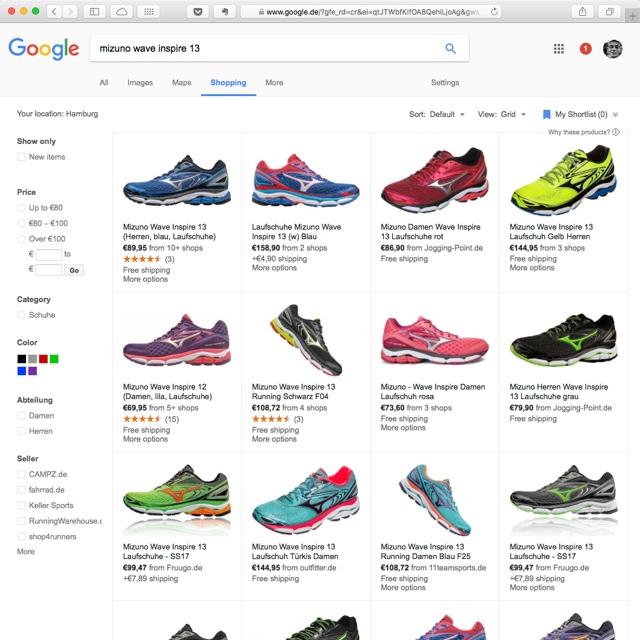 Google Search Shopping