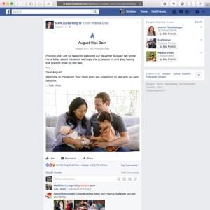 Mark Zuckerberg August Was Born