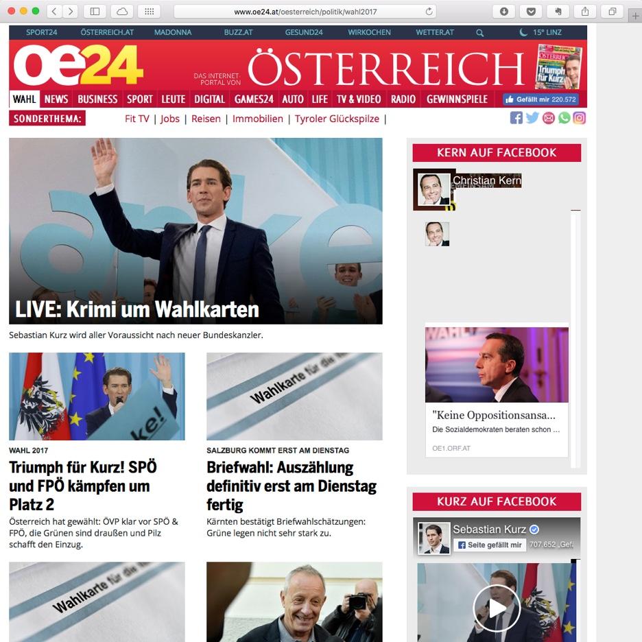 Nationalratswahl 2017 Österreich