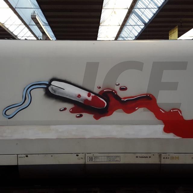 ICE mit Tunneltampon