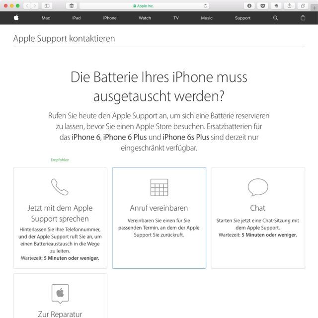 Batterie-Engpass im Akku-Austausch für iPhones