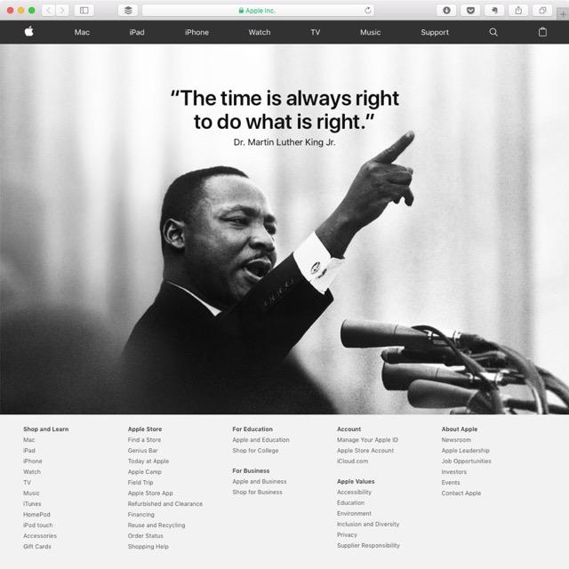 Apple MLK
