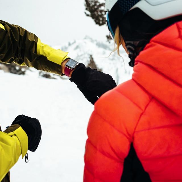 Apple Watch mit Ski App
