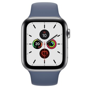 Apple Watch Series 5 in Edelstahl mit Sportband