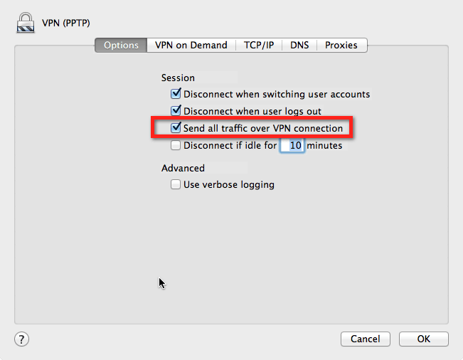 How to Get Hostnames to Resolve over a Mac OS X VPN