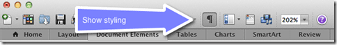 Show paragraph styling on Mac