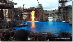 Waterworld water stage flames