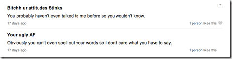 Another Random ask.fm bullying conversation