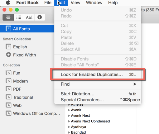 Fix Mac Office 2011 Crashing in Yosemite - Duplicate Fonts