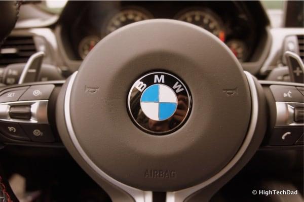 2015 BMW M3 - BMW emblem on Steering Wheel