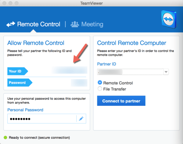 Reset TeamViewer ID - remote control panel