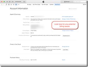 HTD iTunes Account information