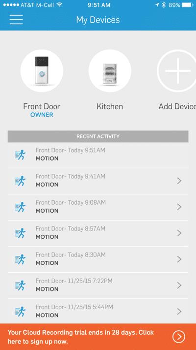 HTD Ring doorbell - iOS #12