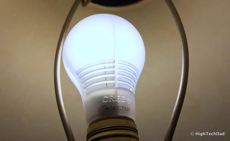 HTD Wink & Cree Connected LED Light Bulb - Cree light on