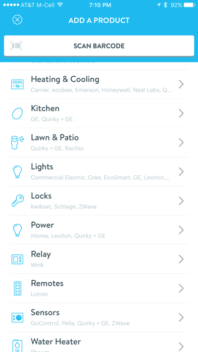 HTD Wink & Cree Connected LED Light Bulb - iOS Add a Product