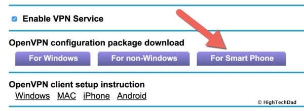 HTD OpenVPN & NETGEAR - for smartphones