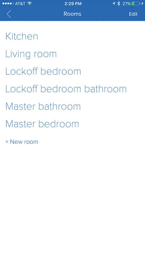 Know Your Stuff - iOS rooms