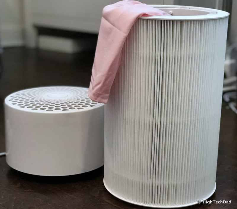 Blueair Blue Pure 411 air purifier - filter exposed