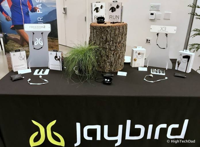 Logitech 2017 Holiday Tech Media Preview - Jaybird table