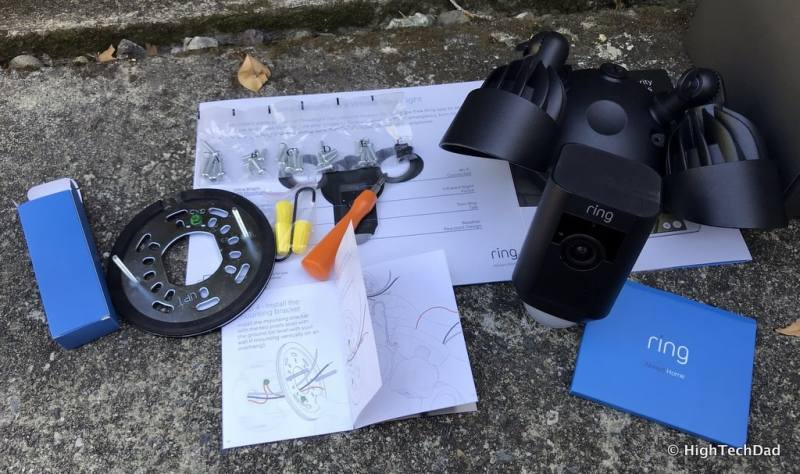 Ring Floodlight Cam - what's in the box