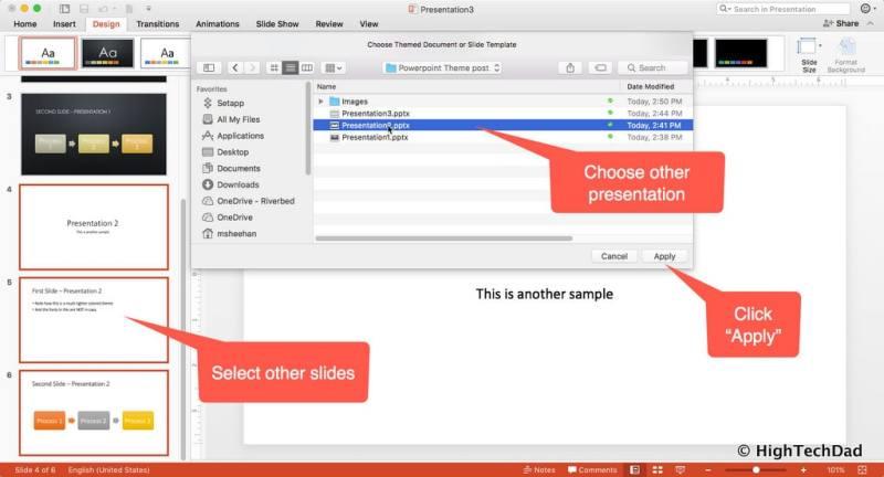 HTD PowerPoint Design - choose other design