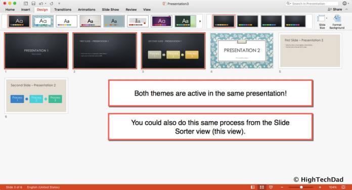 HTD PowerPoint Design - slide master view