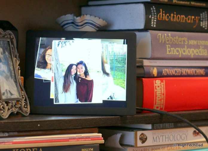 Nixplay Seed Digital Frame Review - on the shelf