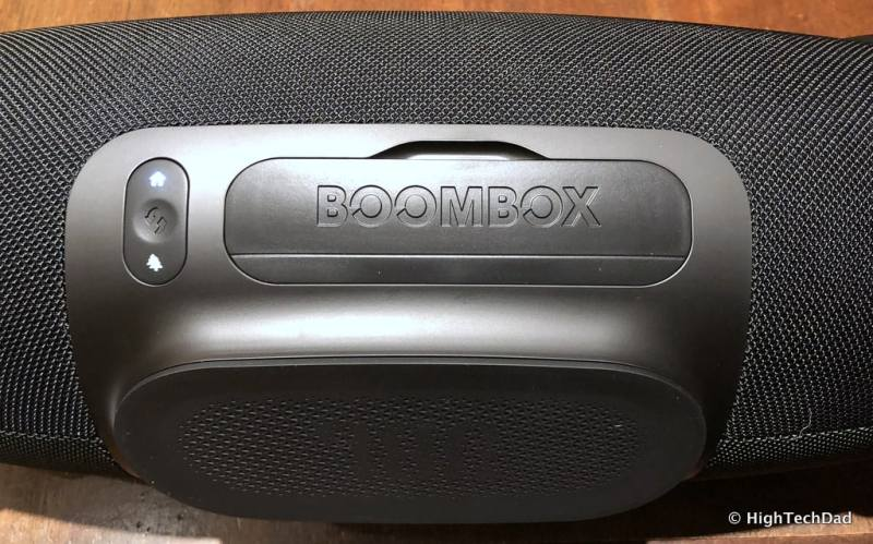 HTD JBL Boombox Bluetooth Speaker Review - closed back flap