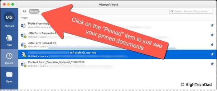 "HTD How To Create ""Work"" Menu in Office 2016/Office 365 - pinned tab"