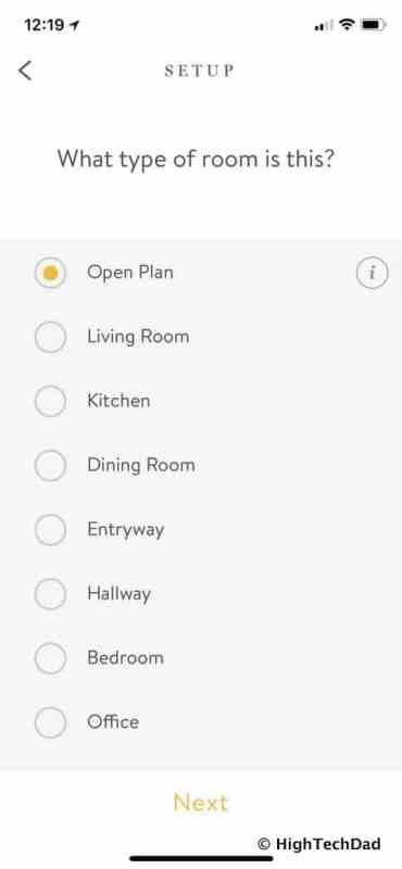 Noon Home Intelligent Switches - define room type