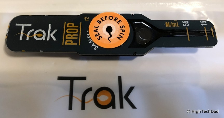Trak Male Fertility Testing System - seal before you spin