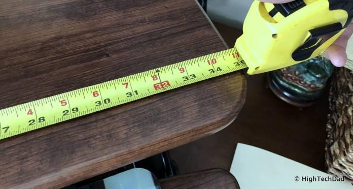 FlexiSpot ClassicRiser Standing Desk Converter review - wide measurement