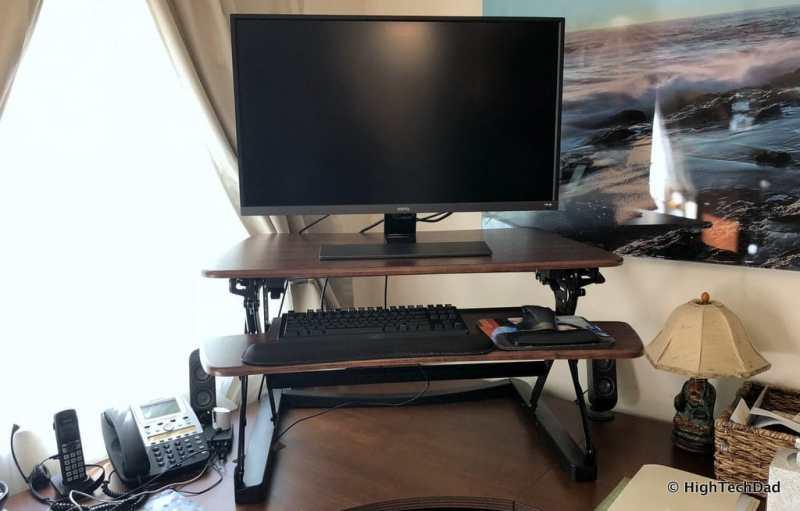 FlexiSpot ClassicRiser Standing Desk Converter review - fully extended
